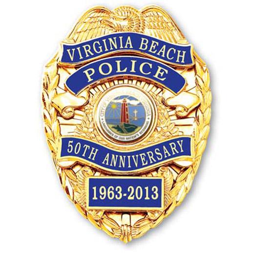 Virginia Beach Police 50th Anniversary Badge